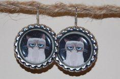 Grumpy Cat earrings