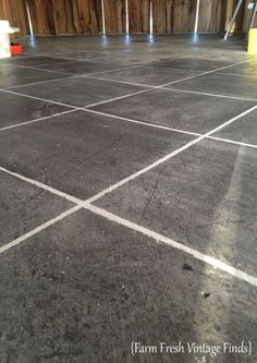 How to stain concrete to look like tile