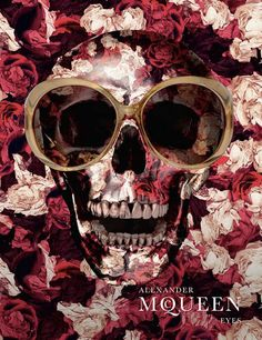 alexander mcqueen illustrations | alexander mcqueen, flowers, illustration, skull, sunglasses ...