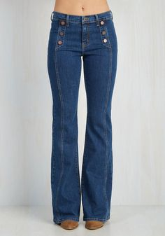 ANGRY RABBIT County Flare Jeans