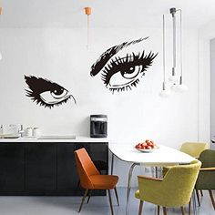 Oksale STickeRs Audrey Hepburns Eyes Silhouette Wall Stickers Papers PVC Removable Bedroom Living Room Home Showcase Applique Mural Decor Decal * Learn more by visiting the image link.