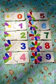 """Купить Пазлы детские """"Счет"""" - разноцветный, пазлы из фетра, счет, цифры, фетр, подарок"""