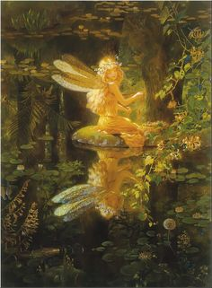 ≍ Nature's Fairy Nymphs ≍ magical elves, sprites, pixies and winged woodland faeries - Claire's Wing by Kinuko Y. Fairy Dust, Fairy Land, Fairy Tales, Forest Fairy, Woodland Fairy, Magical Forest, Deep Forest, Fantasy Magic, Fantasy World