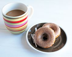 Baked Cider Doughnuts with Cinnamon Cider Glaze