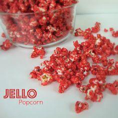 Jello Popcorn in green