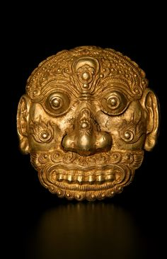 "Gold Mask - DA.700 Circa: 13 th Century AD to 16 th Century AD Dimensions: 6.5"" (16.5cm) high Collection: Asian Art Medium: Gold Condition: Fine"