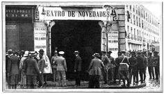 SEPT 1913 - TEATRO NOVEDADES FACHADA DESPUES DEL INCENDIO