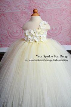 Ivory Hydrangea Tutu Dress by Your Sparkle Box-so adorable!!!!!!