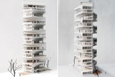 china-based firm LYCS architecture has sent us images of their proposal for 'writhing tower', a sky condo located in the residential zones in lima, peru.