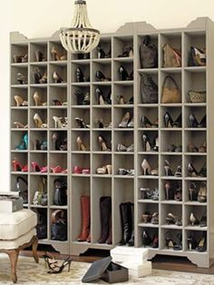 Shoe organizer - omg LOVE! Women around the world just had a million orgasms when they saw this.