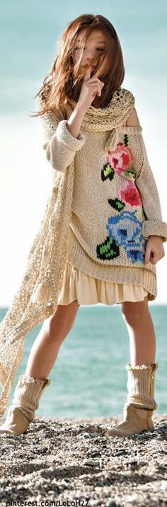 More Boho @diannedarby little girl boho look