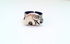 Lucky Elephant Ring, Good Luck Elephant, Adjustable Ring