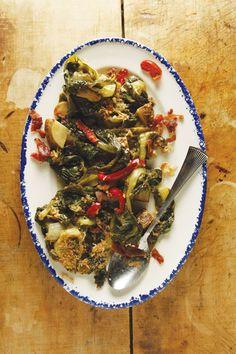 Utica Greens - Italian side dish w escarole, roasted potatoes & spicy peppers, fr. Utica, New York | SAVEUR