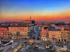 Zachód słońca na budowie DTŚ w Gliwicach #gliwice #dtsgliwice #dts