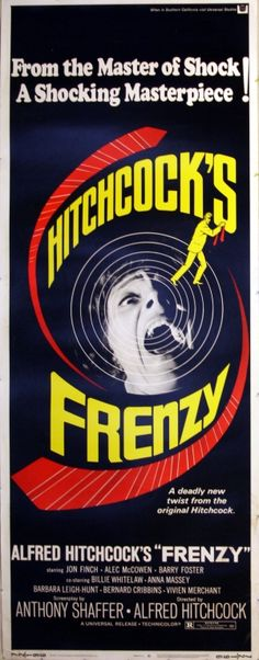 Frenzy, 1972 - original vintage movie poster for the Alfred Hitchcock film starring Jon Finch, Barry Foster and Alec McCowen listed on AntikBar.co.uk