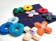 felt tic tac toe. DIY gift for Kids!