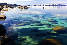 Clear water & Mountains by steveells, via Flickr