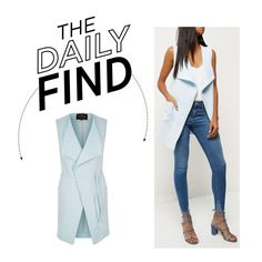 The Daily Find: River Island Sleeveless Jacket by polyvore-editorial on Polyvore featuring DailyFind