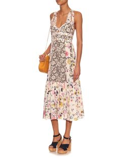 Sleeveless floral-print silk dress | Rebecca Taylor | MATCHESFASHION.COM US