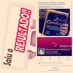 Wilker Maia é o ganhador no sorteio do livro BÍBLIA DO COACHING. Em breve, mais novidades em www.facebook.com/marielaparolinicoachingcomunicacao