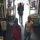 three suspects in a theft case at CVS