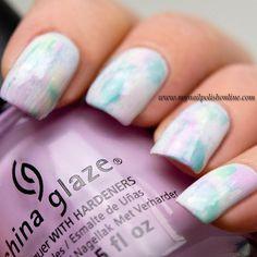 Nail Art - Pastel distressed nails