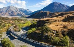 The TranzAlpine is one of the world's great train journeys, travelling coast to coast from Christchurch to Greymouth through forests and farmland and over the spectacular Southern Alps via Arthur's Pass. #travel #NewZealand