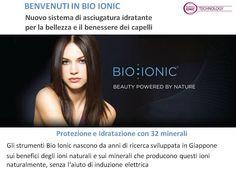 """Sul mercato esistono tanti strumenti """"agli ioni"""", ma il loro effetto sui #capelli è pressochè inesistente. Perchè? Perchè producono ioni elettrici poco attivi e lo fanno attraverso un termostato. Gli strumenti Bio Ionic invece producono IONI NATURALI che agiscono sui capelli idratandoli e condizionandoli, ecco perchè la piega fatta con gli strumenti Bio Ionic dura di più e i capelli sono più sani"""