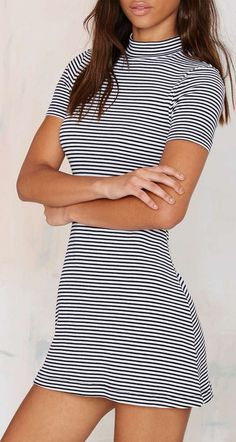 After Party Vintage Lined Up Ribbed Dress