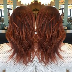 Red base with rich copper balayage highlights❤️ Love my hair Hair by Andrea… - Copper Hair Copper Balayage, Balayage Highlights, Red Balayage Hair, Copper Highlights, Red Hair With Pink Highlights, Red Balyage, Copper Ombre, Orange Highlights, Bright Hair Colors