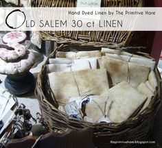 The Primitive Hare: Old Salem: 30 ct linen and Old Massachusett 40 ct