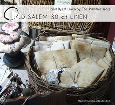 Old Salem: 30 ct linen and Old Massachusett 40 ct