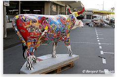 N°28 - CowCow - Marché des Capucins Artiste Jean Claude Delannoy Propriétaire Boucherie GAUTIER