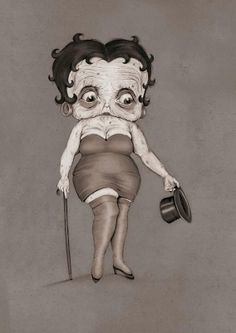 This is what Betty Boop looks like during her old years according to Matthias Seifarth. Reality hits :P