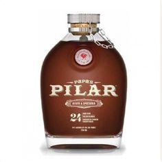 Papa's Pilar Dark Rum (Engraved Bottle). Distinct, beautifully polished, and perfectly unique, just like Ernest Hemingway's fabled yacht for which it is named, Papa's Pilar Dark Rum offers up a dark bronze color in the glass. | spiritedgifts.com