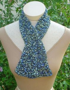 Knitting Pattern Ribbon Yarn Scarf : 1000+ images about Ladder Yarn on Pinterest Yarn necklace, Ladder and Ribbo...