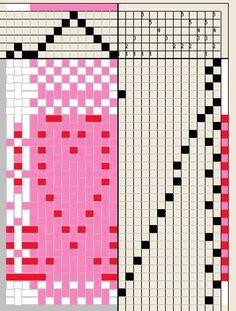 Valentine Heart Weaving draft - All Fiber Arts