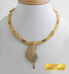 Gorgeous peacock pendant in a beautiful necklace for today's women...