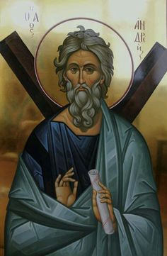 Andrew the Apostole Religious Images, Religious Icons, Religious Art, Andrew The Apostle, Church Icon, Medieval Paintings, Different Forms Of Art, Byzantine Icons, Christ