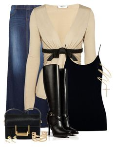 Untitled #2059 by barbarapoole on Polyvore featuring polyvore fashion style Valentino Oasis MANGO Ralph Lauren Collection Yves Saint Laurent Stella & Dot Sydney Evan women's clothing women's fashion women female woman misses juniors