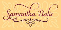 Beautiful Samantha Script Font - only $17! - MightyDeals