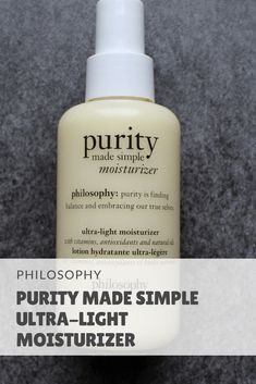 Philosophy Purity Made Simple Ultra-Light Moisturizer