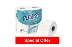 Nicky Elite 3 Ply Toilet Roll - White x 40 Rolls Emboss, School Supplies, Schools, Lotion, Toilet, Rolls, Fragrance, Paper, Unique