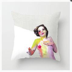 http://society6.com/aleka #Aleka #RomySchneider #pillow #design #collage #Romy #Schneider