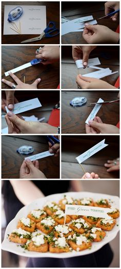 DIY Project | Appetizer Toothpick Flags | Cocktail Hour Details