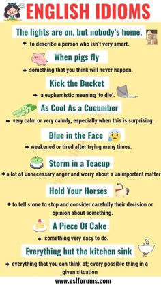 Educational infographic : Top 20 Funny Idioms in English You Might Not Know! - ESL Forums - Educational infographic : Top 20 Funny Idioms in English You Might Not Know! Learn English Grammar, English Language Learning, Learn English Words, English Writing, Teaching English, English Language Funny, Teaching Grammar, Teaching Spanish, Spanish Language