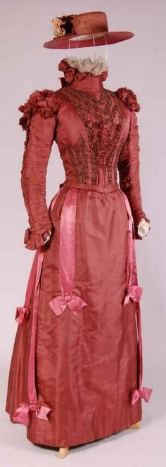 Afternoon Ensemble (Dress and Hat), ca. 1895-1900