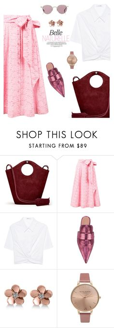 """""""Belle Naturelle"""" by frenchfriesblackmg ❤ liked on Polyvore featuring Elizabeth and James, Lisa Marie Fernandez, T By Alexander Wang, Marni, Allurez, Olivia Burton and Barton Perreira"""