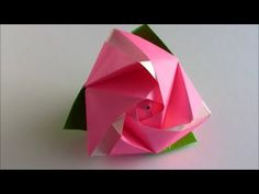 cubo e rosa.  - Origami Magic Rose Cube