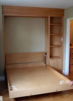 Custom Murphy bed open